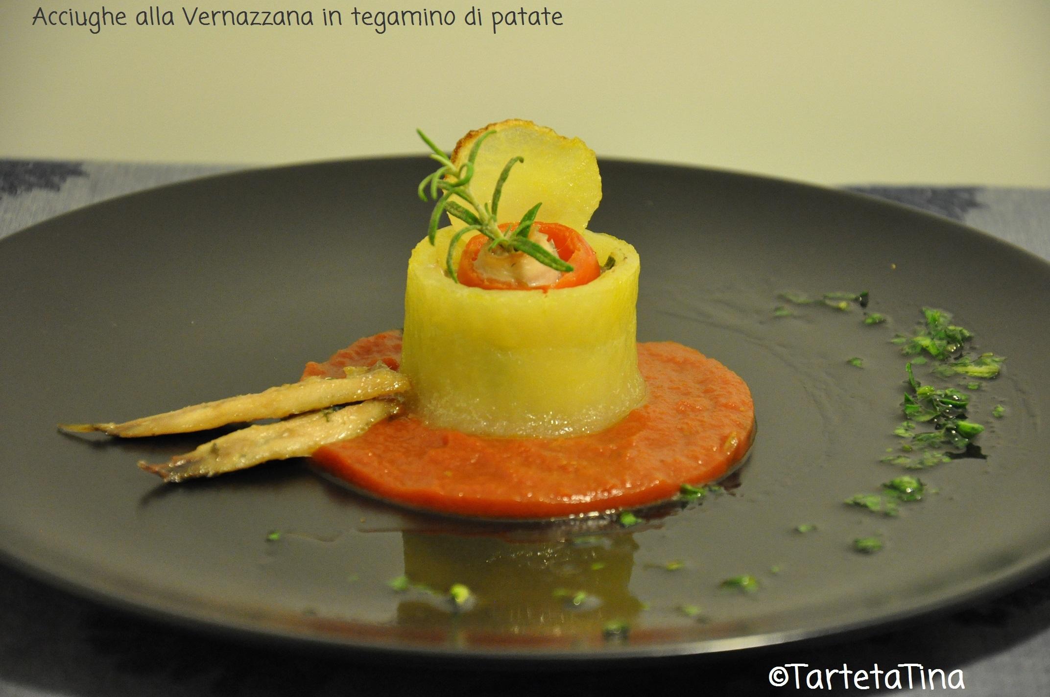 Acciughe alla Vernazzana in tegamino di patate