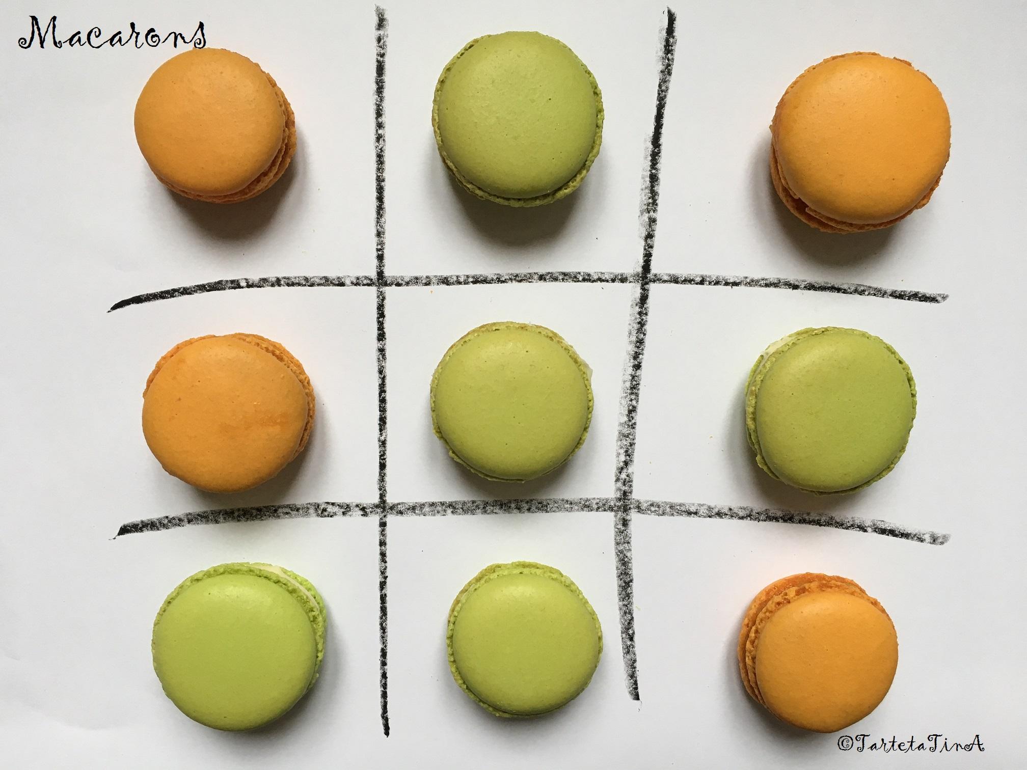I macarons arancia zenzero e zafferano,ananas cioccolato e rosmarino