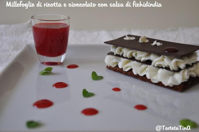 Millefoglie di ricotta e cioccolato