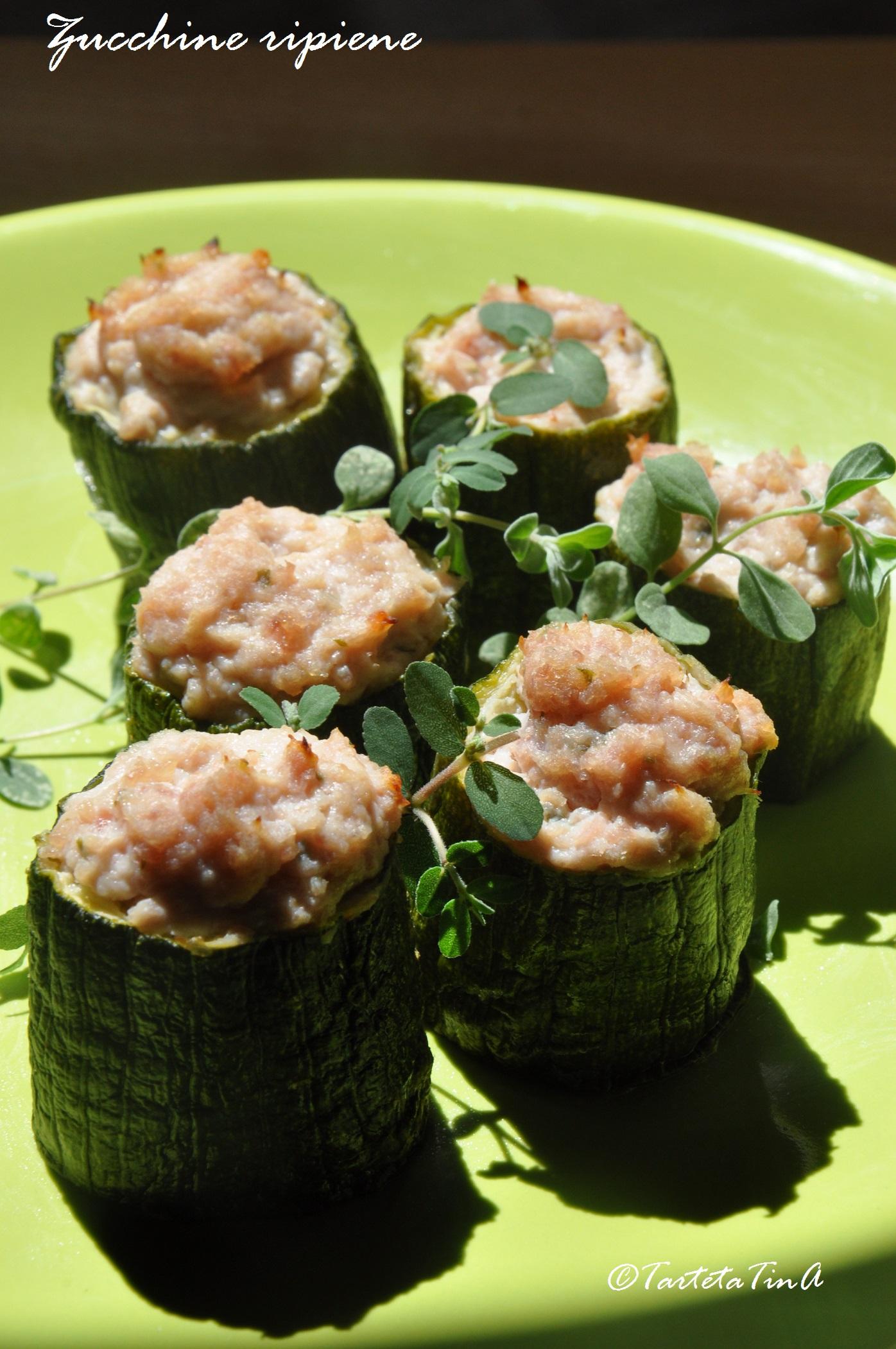 Zucchine ripiene con ricotta  e prosciutto