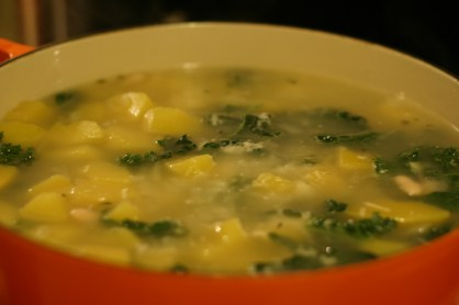 Kale Kabocha Squash White Bean Soup
