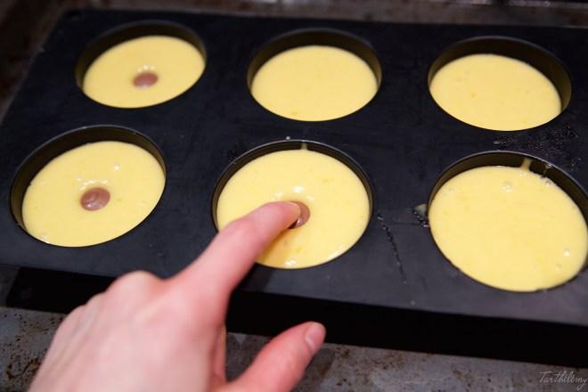 Muffins de licor de huevo y lindor