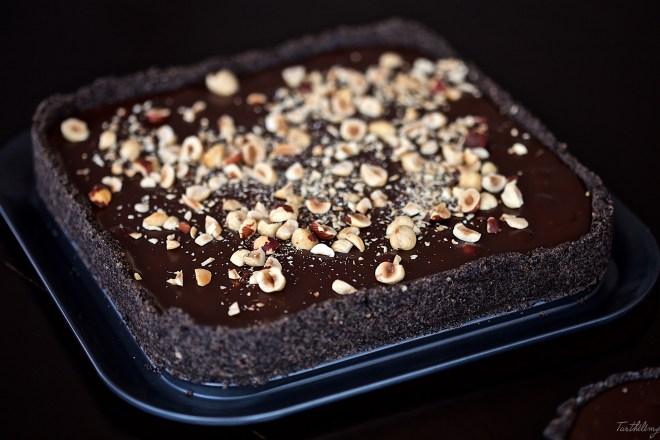 Tarte au chocolat sin cocción