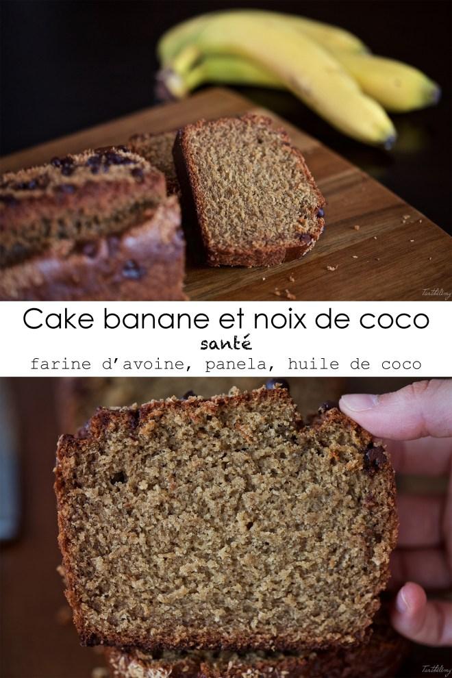 Cake à la banane et noix de coco