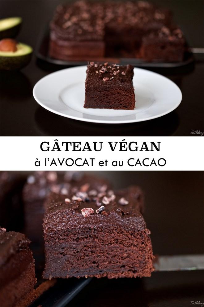 Gâteau végan à l'avocat et au cacao