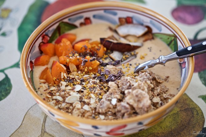 Smoothie bowl de albaricoque