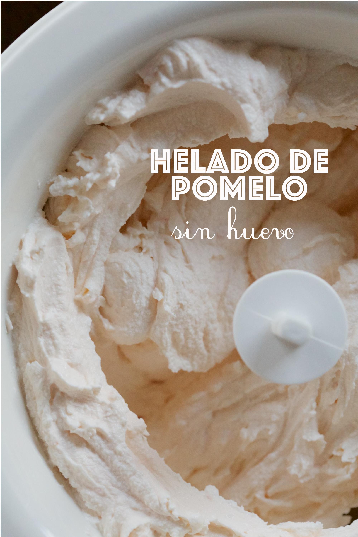 Helado de pomelo (sin huevo, sin gluten)