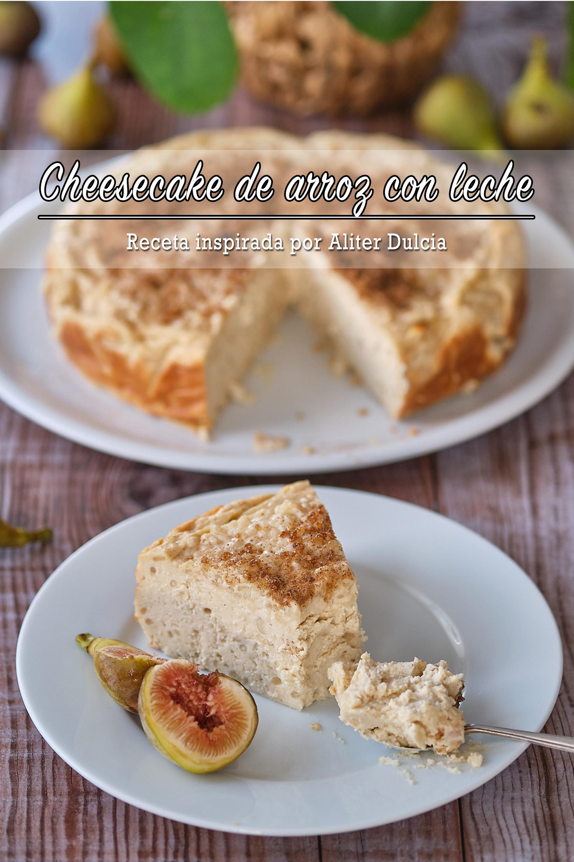 Cheesecake de arroz con leche (inspirada por Aliter Dulcia) + vídeo HD