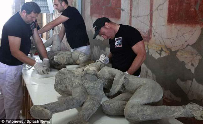 ترميم 86 جثة لضحايا بركان فيزوف قبل ألفي عام