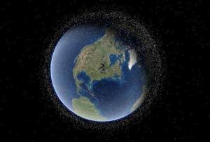 صورة تحاكي مدار الأرض بكل ما فيه من نفايات بشرية
