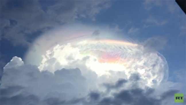 بالفيديو من كوستاريكا: انشقاق السماء وظهور ألوان غريبة