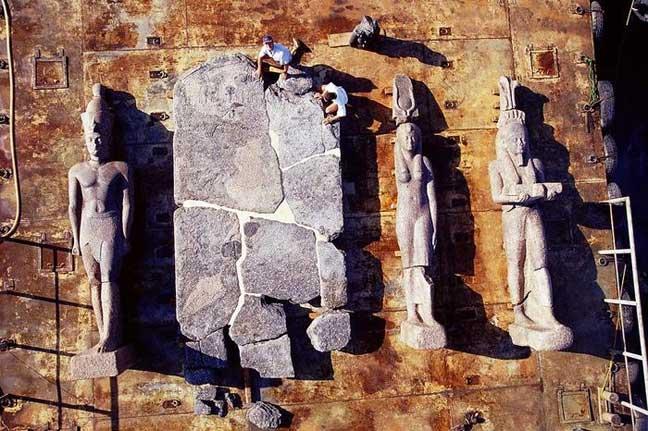 """آثار مدينتي """"هرقليون وكانوب"""" الغارقتين منذ أكثر من ألف عام"""