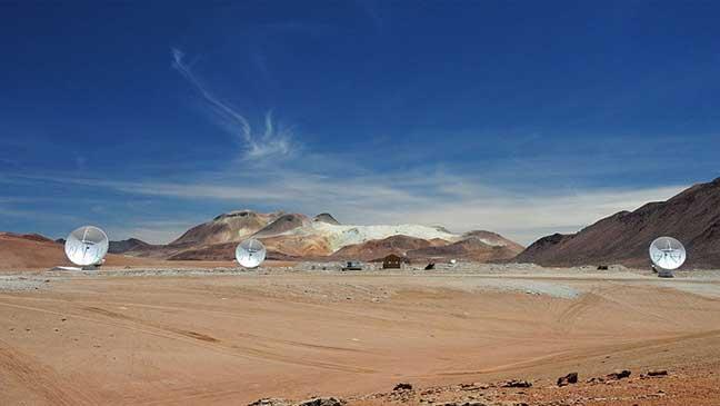 تلسكوب لاسلكي عملاق على ارتفاع 5 كلم لرصد الفلك