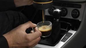 جهاز لتحضير القهوة في السيارة عن طريق الهاتف الذكي