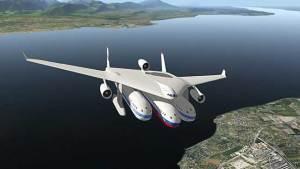 طائرة المستقبل بثلاث مقصورات وتسير برا