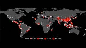 ناسا تعرض خريطة الانجرافات الترابية