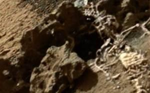 """صور لبقايا """"هيكل عظمي"""" على كوكب المريخ"""