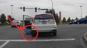 فيديو: لحظة لا تصدق لامرأة تعرضت للدهس بسيارتها