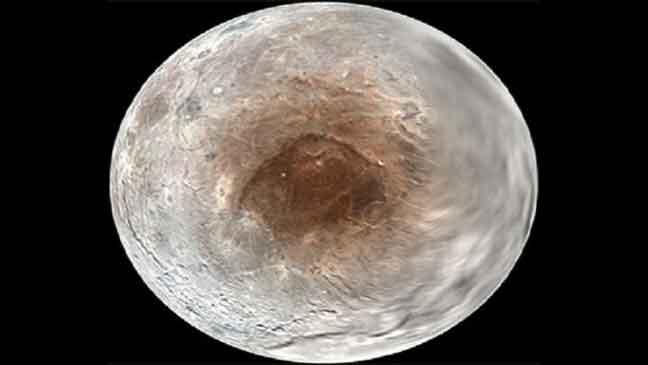 """بقعة داكنة غربية على سطح قمر """"بلوتو"""""""