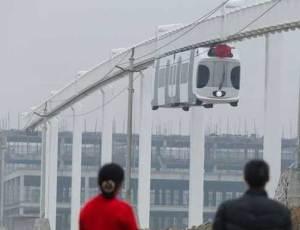 الصين تطلق أول قطار معلق يعمل بالطاقة المتجددة