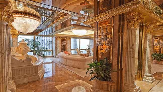 صور من داخل المنزل الفخم لدونالد ترامب