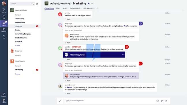 مايكروسوفت تطرح خدمة Teams للعمل الجماعي