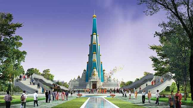 إنشاء أعلى معبد في العالم في الهند