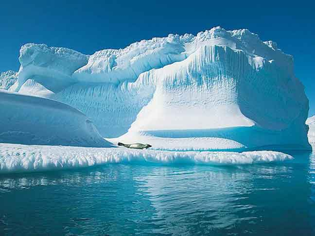 تقلص مساحة الجليد البحري في القطب الشمالي إلى الحد السنوي الأدنى
