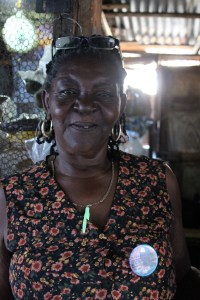 Another of the wonderful people in the market. I bought some Jamaican chocolate from her.
