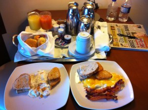 Breakfast. It was all right - as hotel breakfasts go. At least it wasn't a cook-it-yourself waffle bar.
