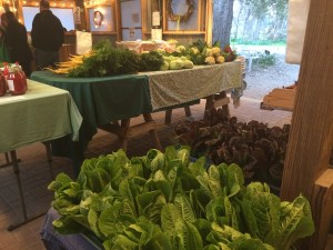 Inside Boggy Creek's farm stand.