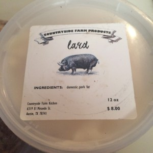 Fresh Lard. Just because. Countryside Farm.