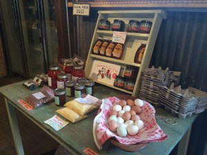 Farm eggs, and wares from other local producers.
