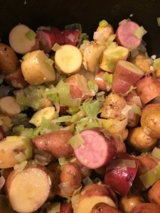 I didn't realize some of the potatoes were pink (or, I guess, red) until I cut into them.