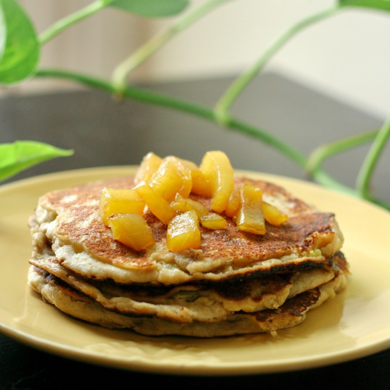Banana Pineapple Oat Pancakes