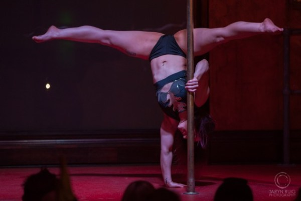 pole dancer at a performance