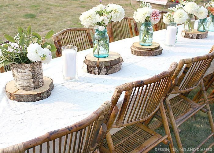 Rustic Outdoor Party - Taryn Whiteaker on Backyard Table Decor id=40601