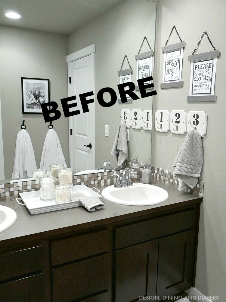 double sink bathroom vanity makeover