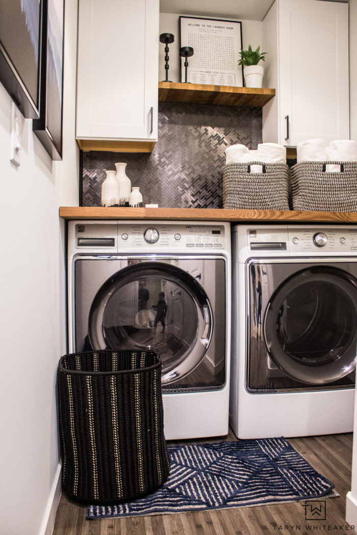 Small Laundry Room Makeover - Taryn Whiteaker on Small Laundry Room Cabinets  id=91284