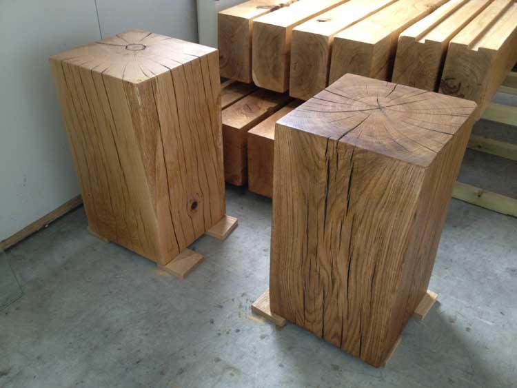 Solid Oak Side Tables