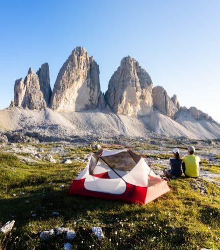 La tente est posée