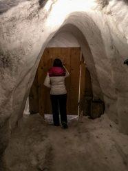 Porte d'entrée de l'igloo