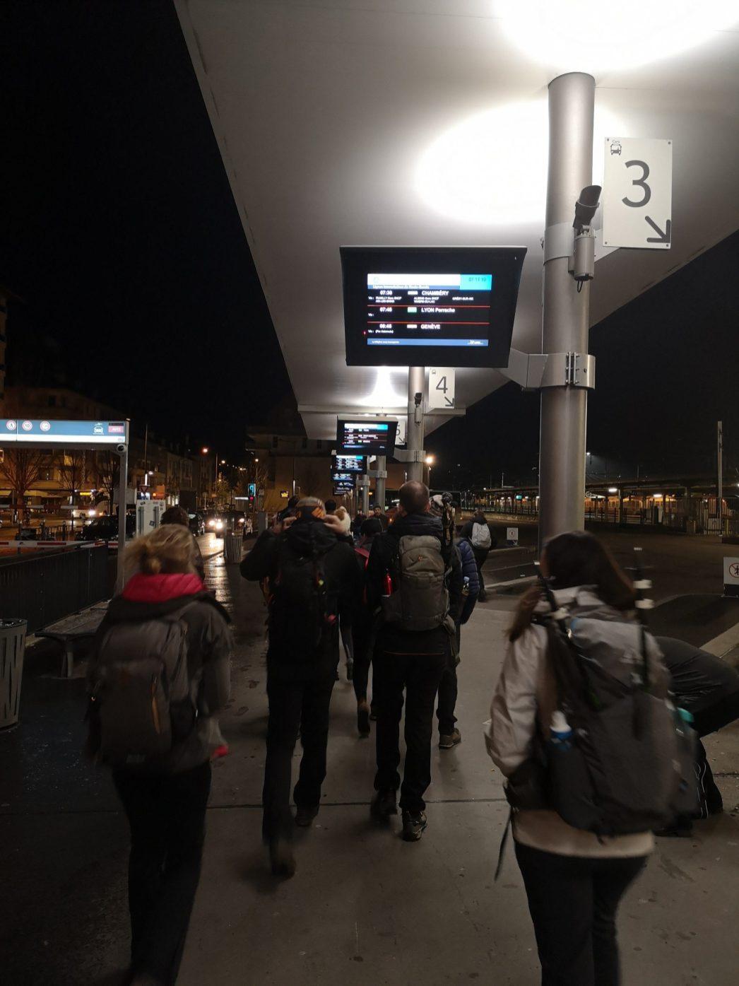Nous allons chercher notre bus ;)