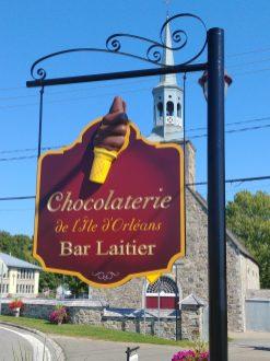Chocolaterie sur l'île d'Orléans