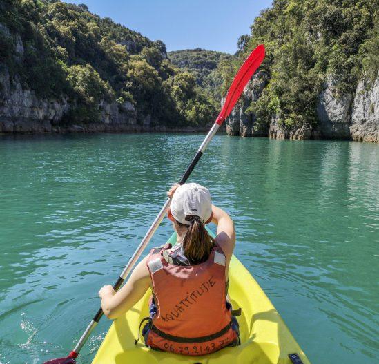 Le canoé dans les gorges de Baudinard