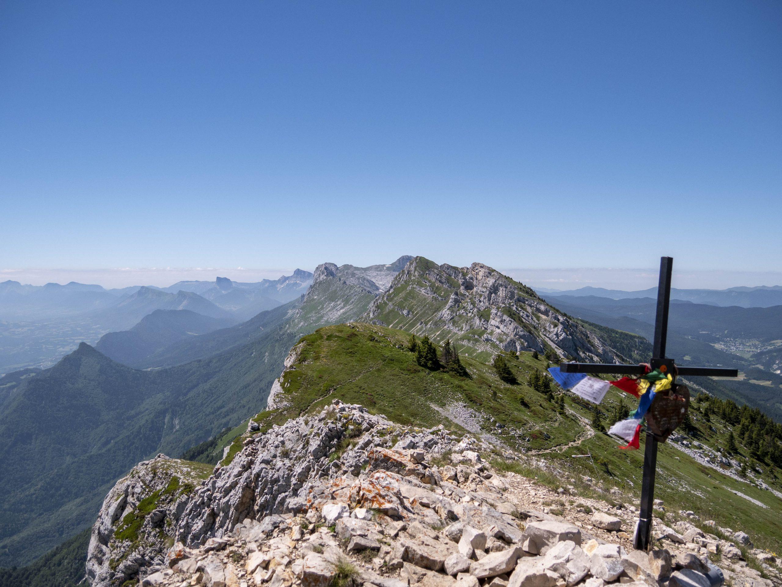 Le Col de l'Arc et le Pic Saint Michel dans le Vercors