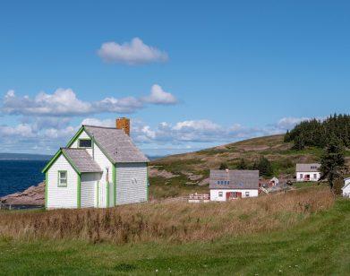 Petites cabanes sur l'ile Bonaventure
