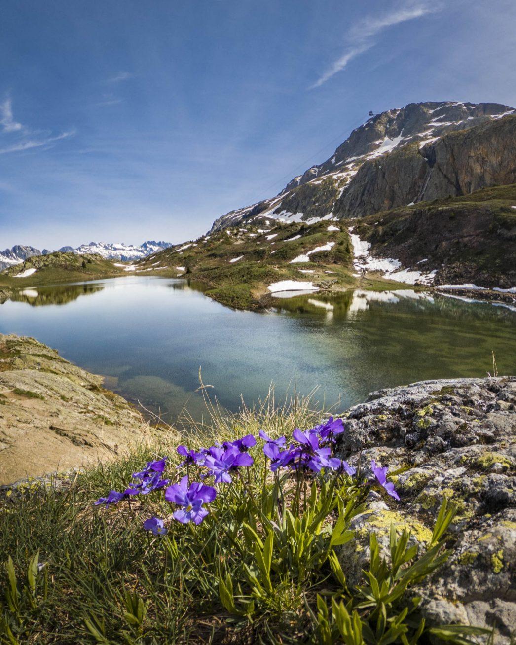 L'un des 5 lacs de l'Alpe d'Huez