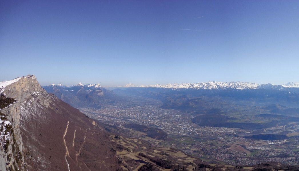 Grenoble depuis le Vertige des cimes