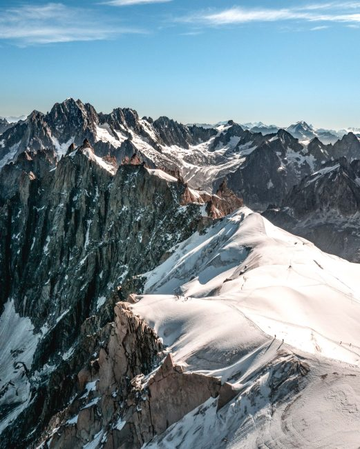 Une vue incroyable depuis l'Aiguille du Midi